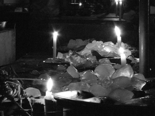 Лед и свечи.