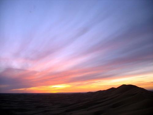 Вечернее небо над Хонгор Элс