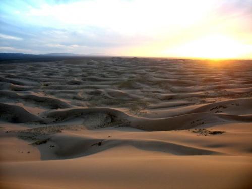 «Песчаное море». Пески Хонгорын Элс, пустыня Гоби, Монголия