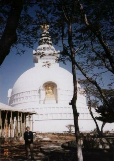 Японский храм в Раджгрихе, здесь Будда преподал учение о Пустоте.
