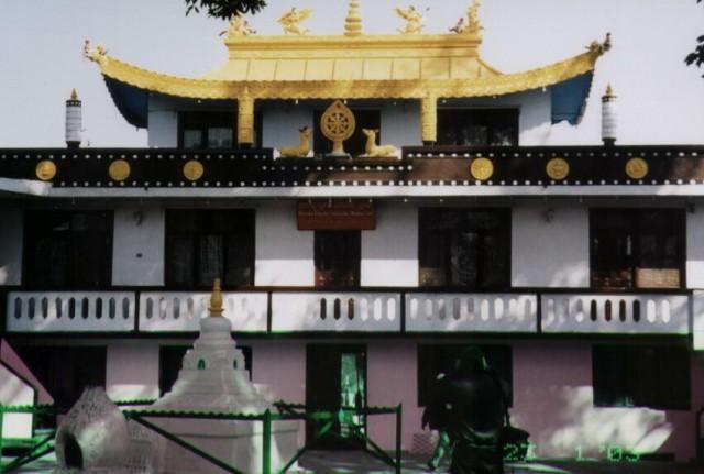 Тибетский храм в районе Сваямбуднатх.