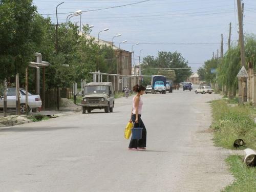 В центре деревни