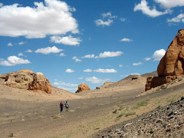Гипнотическое пространство каньона Хермен Цав, пустыня Гоби