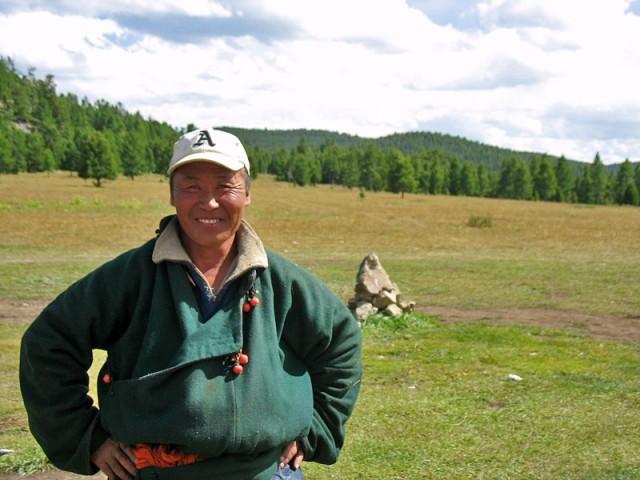 Монгол в традиционном халате