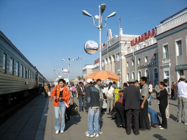 Монголия. Вокзал в Улан-Баторе