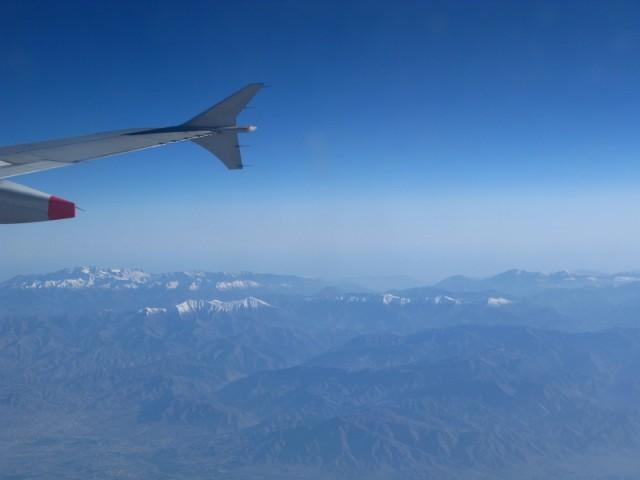 Вид из самолета: Горы в районе Тегерана
