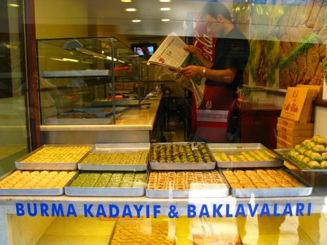 Лавка с баклавой, Стамбул