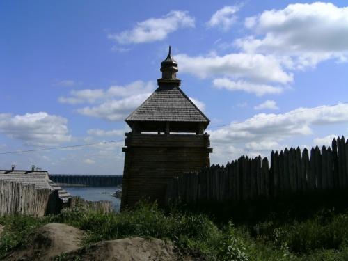 Реконструированный кусочек Запорожской сечи.