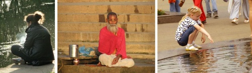Вот говорят: в Индии там духовность и медитации. Наш народ тоже медитирует и тоже над водой