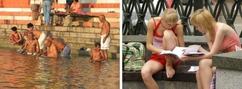 И в Индии, и в Беларуси народ получает духовную практику почти голышом. И они, и наши под воздействием Вед