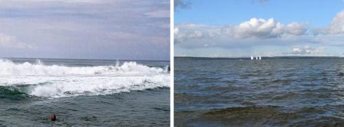 Говорят, что в Индии есть море (справа), а у нас нет (слева). Как видите не то, чтобы совсем нет