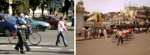 Движение на улицах выглядит почти одинаково