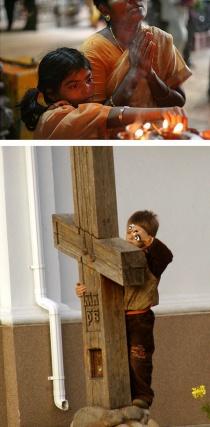 Религии разные, но что-то неуловимо общее