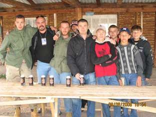 Сербы и волонтеры