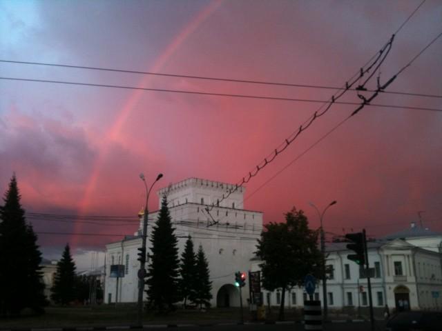закат и радуга