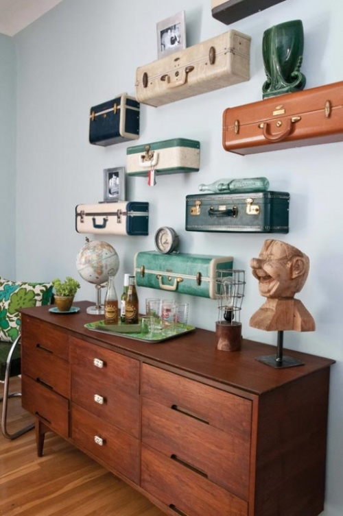 Ki Nassauer's - Vintage  Suicase Shelves