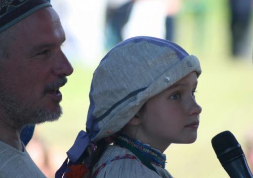 Сергей Старостин со своей дочкой