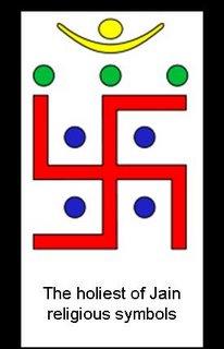 jain swastika with 7 Jina