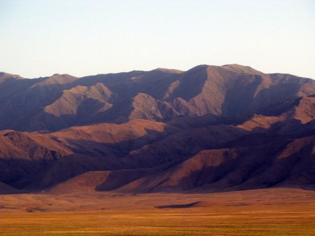 Пейзажи по дороге к казахо-киргизской границе