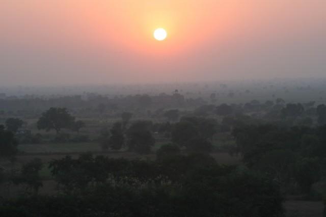 закат в Фатерпур Сикри
