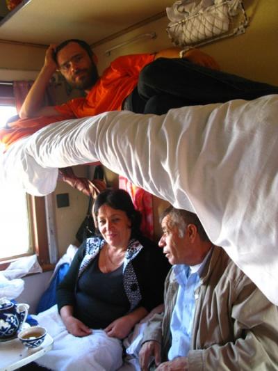 В узбекском поезде
