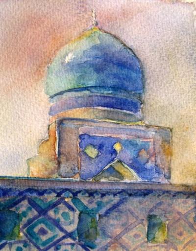Мечеть медресе Тилла-Кари, Самарканд. 2008