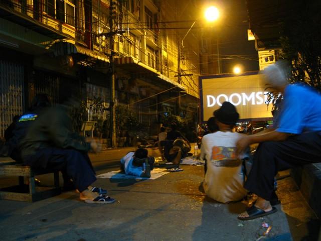 Уличный кинотеатр в Бангкоке