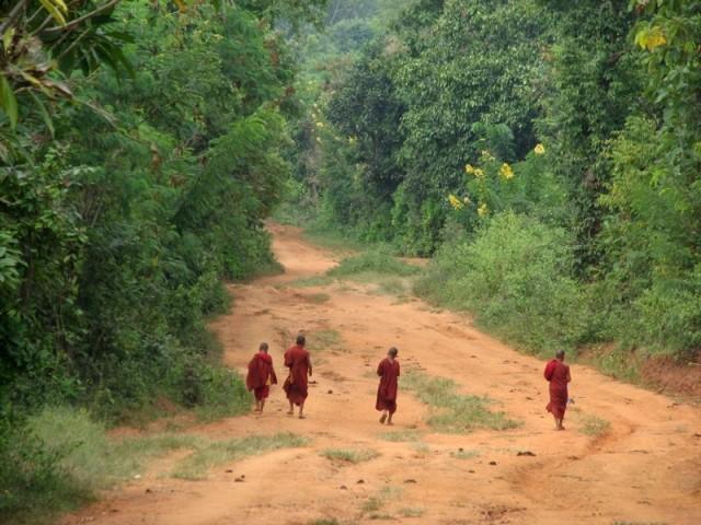 Дети-монахи в пути