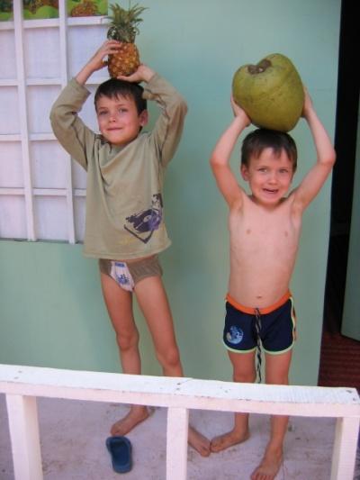 С ананасом и кокосом (угостил дядя-спайдермен - их добытчик)