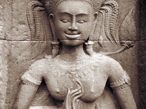Задорная апсара. Храм Chau Say Thevoda