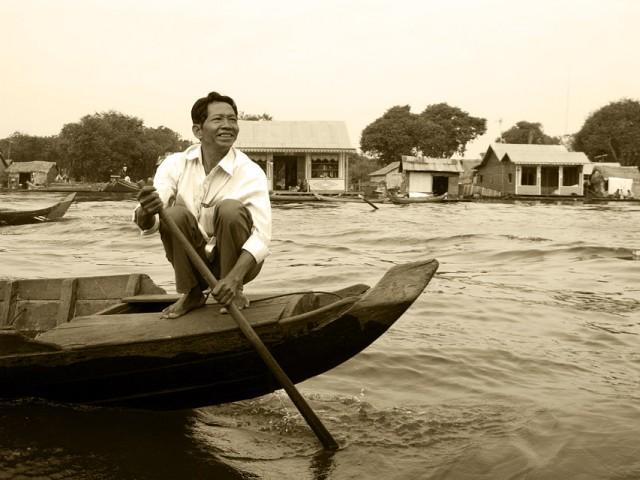 Путешествие на лодке из Сием Риепа в Баттамбанг