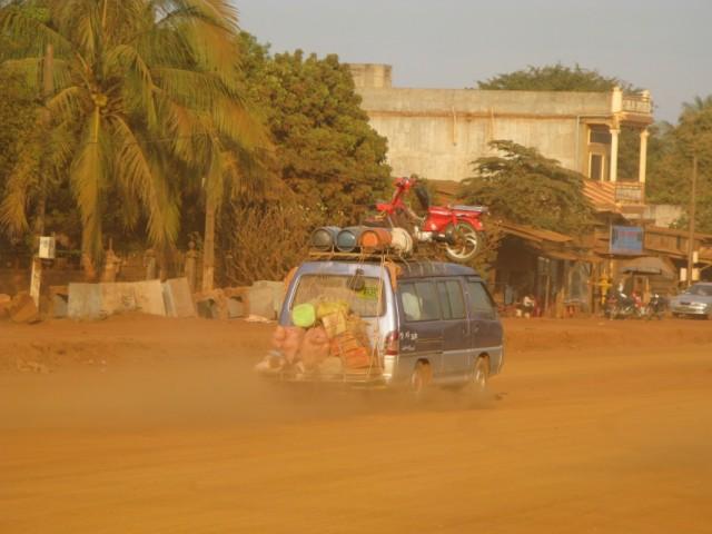 Минибас на трассе