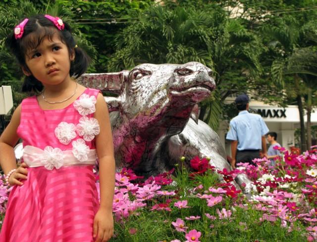 Девочка и Бык. Хо Ши Мин