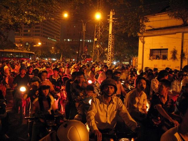 Новогодняя пробка в Хо Ши Мине