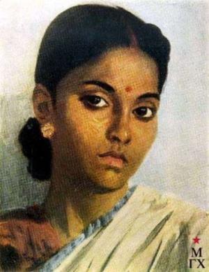 ЕФАНОВ В.П. Девушка индианка. 1952