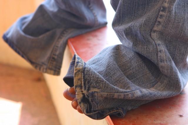 и штаны у него чоткие