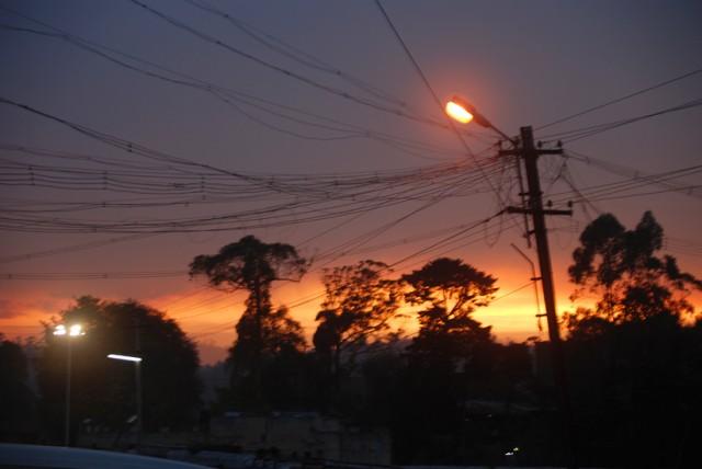 психоделический закат над кодаем... последний кадр перед тем как сдохла батарейка...