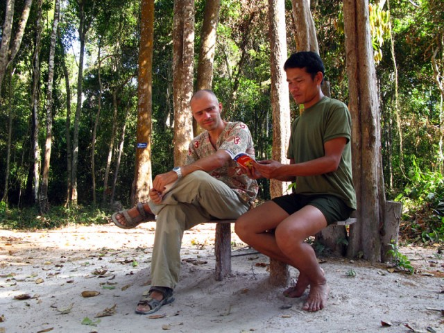 Урок лаосско-английского с лесником из Донг Натад