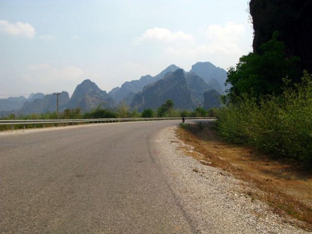 Дорога в центральном Лаосе