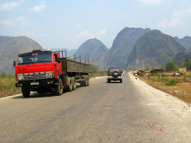Камаз в Лаосе