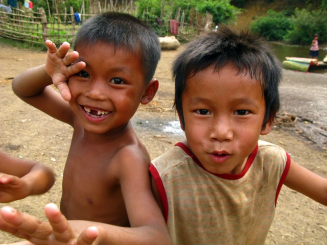 Лаосская малышня