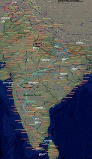 Карта Рамаяны