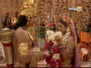 Кадр из эпизода про свайямвару