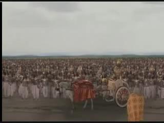 Вишвамитра с войском проходит вблизи ашрама Васиштхи