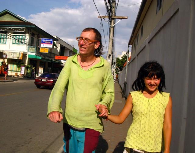 Роберт и Гульшат в Чианг мае