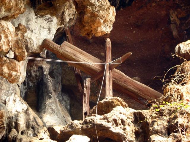 Древнее захоронение в пещере