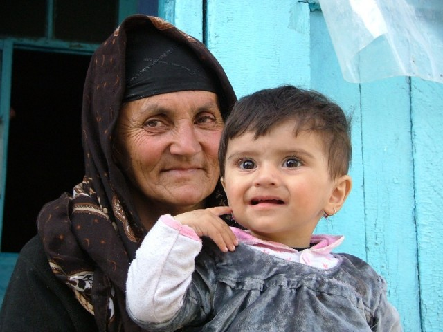Просто бабушка ..с внуком наверное