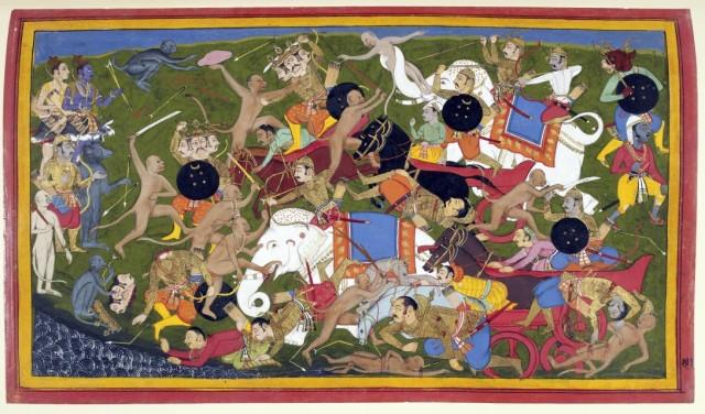 Битва обезьян и ракшасов