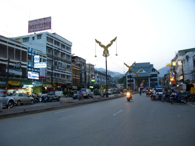 Ме Саи, пограничный город