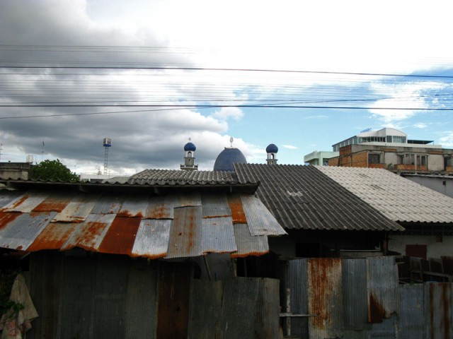 Подъезжаем к Хат Яи. Юг Таиланда - преимущественно мусульманский